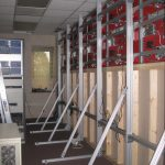 Constructing Blue Ridge Electric Video Wall