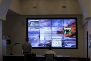 City of Oceanside Traffic Management video wall.
