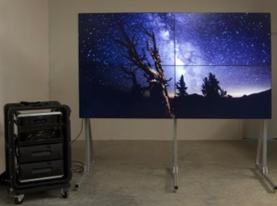 Portable 2x2 Video Wall Complete System