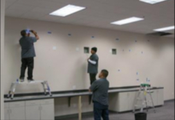 Installing video wall