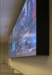 Installed video wall